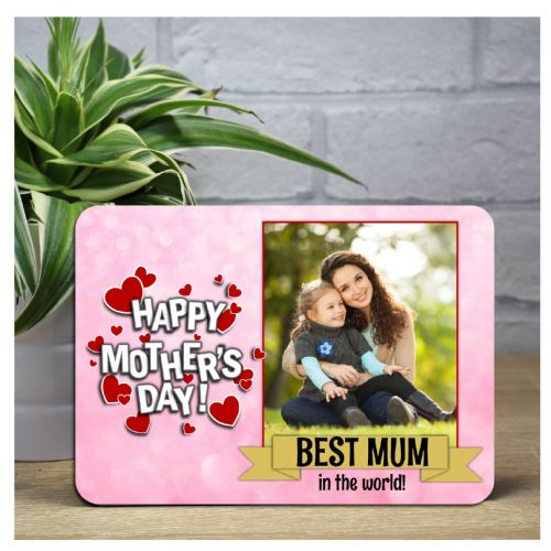 Personalised Happy Mothers Day Wood Photo Panel F11 - Perfect Gift Idea